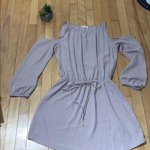 Jella C. Long sleeved cold shoulder dress